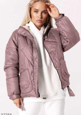 Стеганая куртка с асимметрией