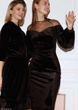 Женственное платье из бархата