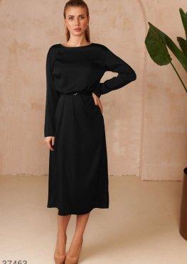 Минималистичное платье с поясом
