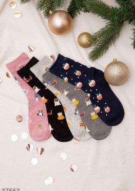 Набор носков с рождественским принтом