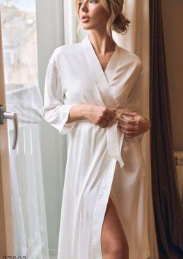 Удлиненный халат из шелка