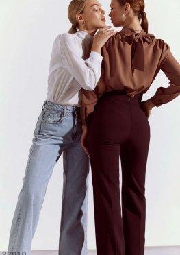 Шифоновая блуза с объемными рукавами