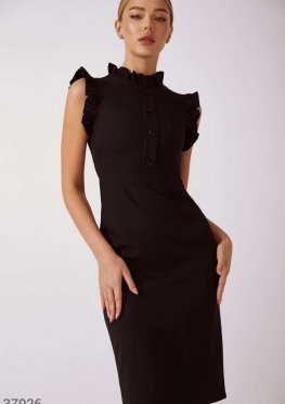 Облегающее платье со сборками