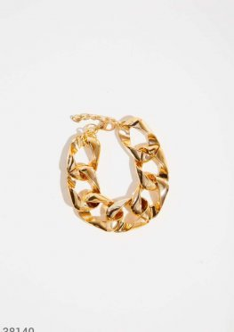 Объемный золотистый браслет