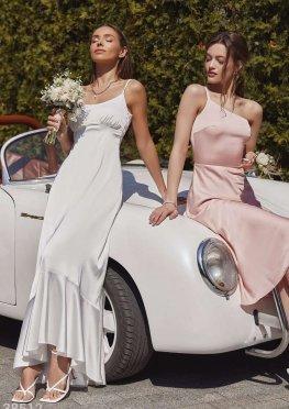 Атласное платье в бельевом стиле