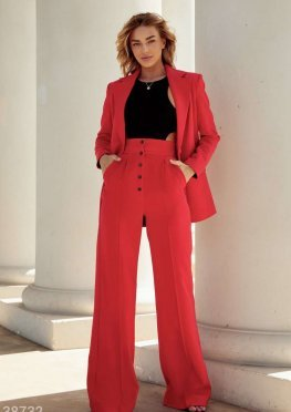 Яркие брюки-палаццо