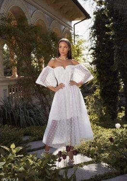 Воздушное платье в горох