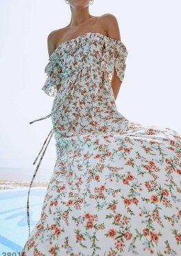 Цветочное платье-макси