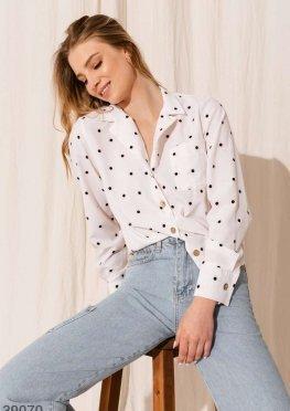 Женственная блуза рубашечного кроя
