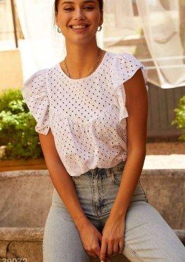 Расклешенная хлопковая блуза