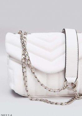 Белая сумка-мессенджер