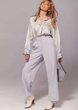 Широкие брюки серого цвета
