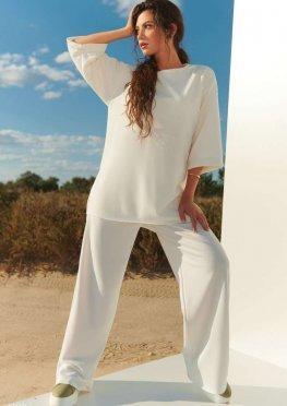 Белый базовый костюм