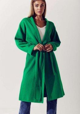 Яркий зеленый кардиган