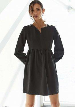 Свободное платье мини черного цвета