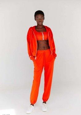 Трикотажные джоггеры оранжевого цвета