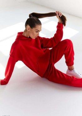 Теплый красный костюм на флисе