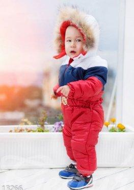 Теплый детский комбинезон на велюровом подкладе