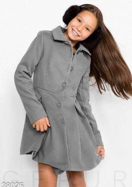 Приталенное детское пальто