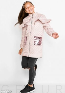 Оригинальное стеганое пальто