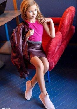 Детская кожаная юбка