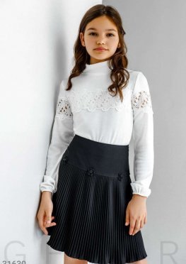 Школьная юбка-плиссе