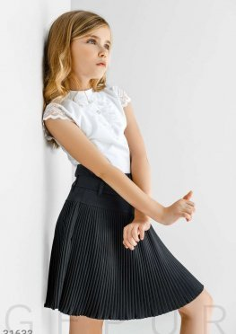 Плиссированная детская юбка
