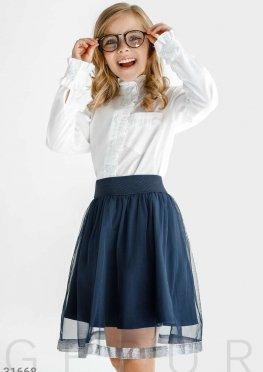 Расклешенная юбка-полусолнце