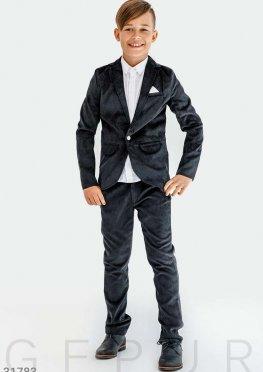 Вельветовый стильный костюм