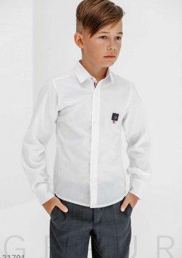 Однотонная детская рубашка