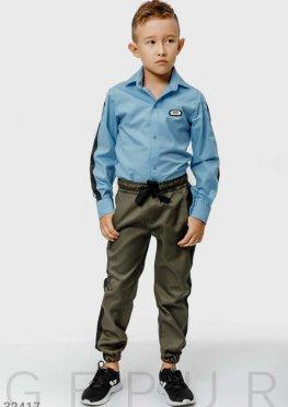 Хлопковые школьные брюки