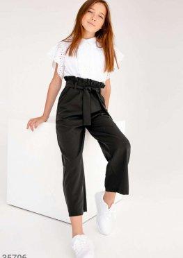 Классические черные брюки с высокой талией