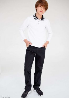 Черные брюки прямого кроя для школы