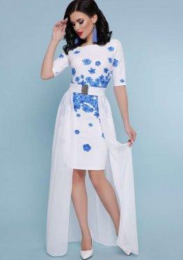 Голубые цветы платье Кейтлин к/р