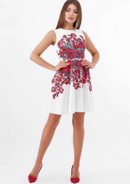 Разноцветные цветы платье Альба б/р