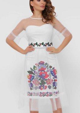 Цветочный орнамент платье Уна б/р