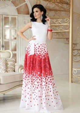 Красные лепестки платье Анисья П б/р