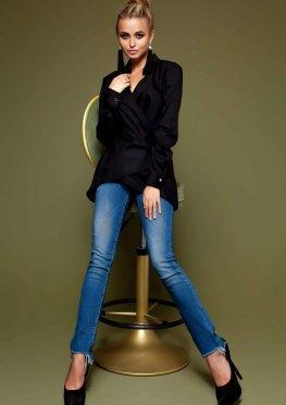 Блуза Гремми без ремня черный