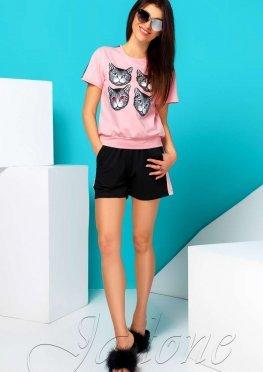 Костюм Элли с шортами розовый