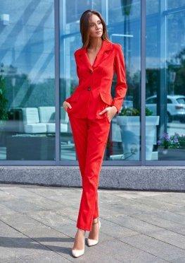 Костюм Зарина с брюками красный