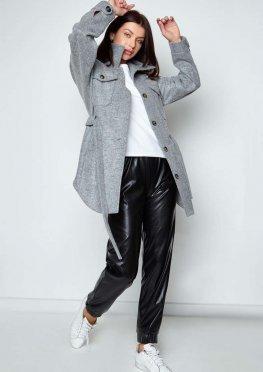 Облегченное пальто Мираж серый