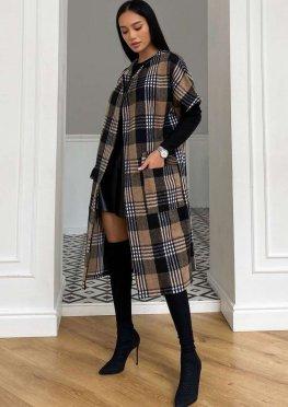 Пальто без рукавов Олье коричневый