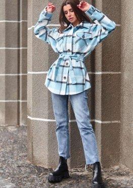 Пальто-рубашка Нетти голубой