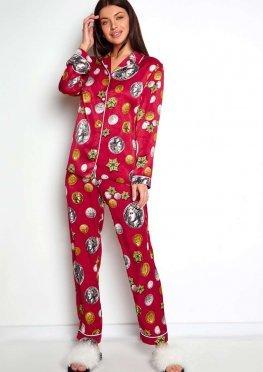 Пижама Моне красный
