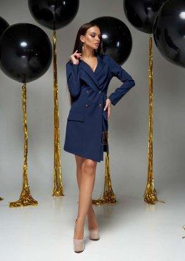 Платье Алекса без ремня тёмно-синий