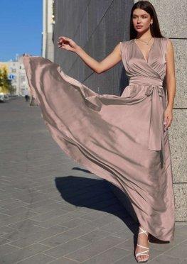 Платье Фурор бежево-лиловый