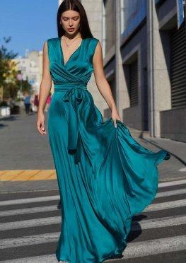 Платье Фурор зеленый