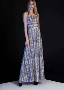 Платье Габи серо-лиловый