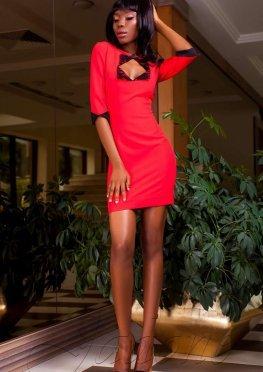 Платье Клори красный