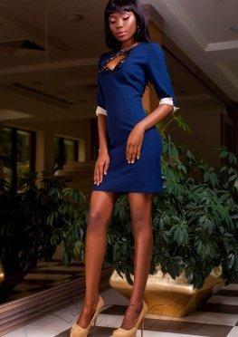 Платье Клори тёмно-синий